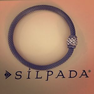 Silpada Mesh Together Stretch Bracelet